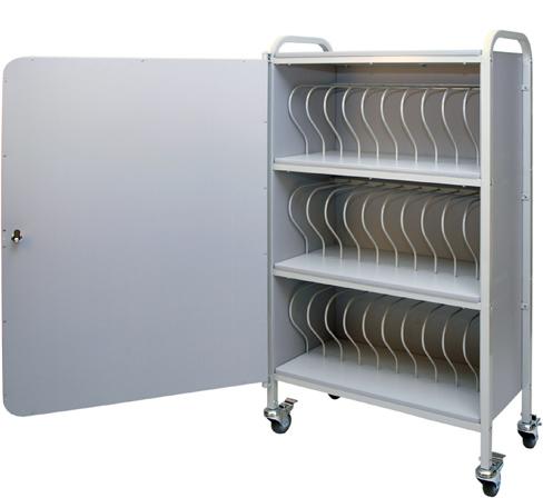 Locking Mobile Nursing Chart Binder Rack 30 E 2 Ringbook Storage Cart Click To Enlarge