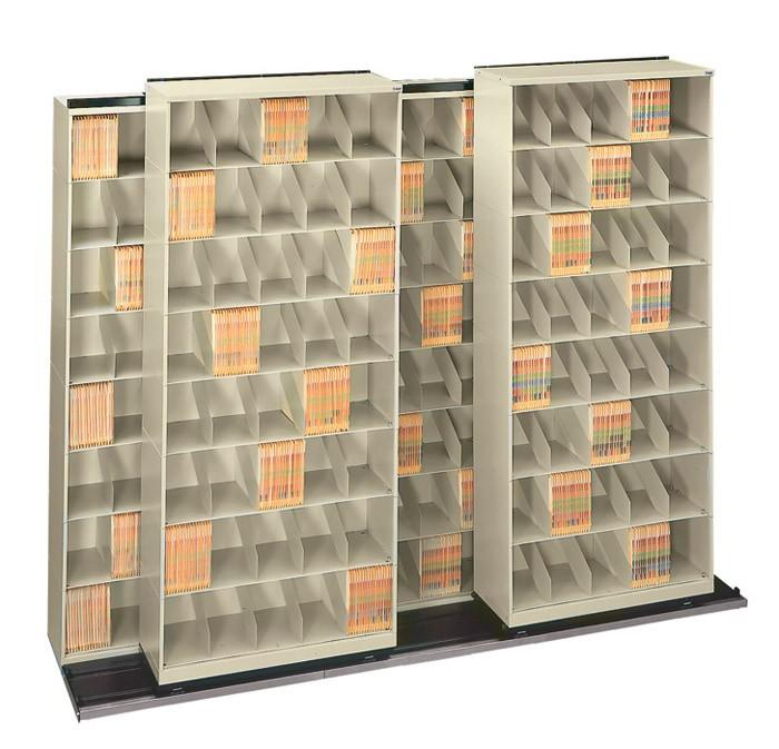 Movable Lateral Shelving Bi File High Density Storage