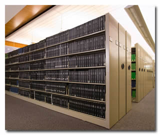 High Density Mobile Storage At Franklin Mills Company Doent And Solutions Shelving