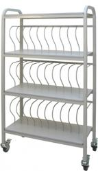 "Mobile Chart Rack (30 Space) 2"" Nursing Ring Binder Cart"