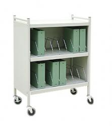 "Mobile Chart Cabinet ""Workhorse Series"" 20-Space Binder Storage Cart"