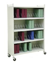 "Mobile Chart Cabinet ""Workhorse Series"" 48-Space Binder Storage Cart"
