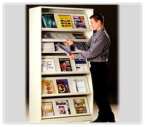 Periodical_display_storage_magazine_rack_library Neatly Organize Magazine  Collections With Our Efficient Displays
