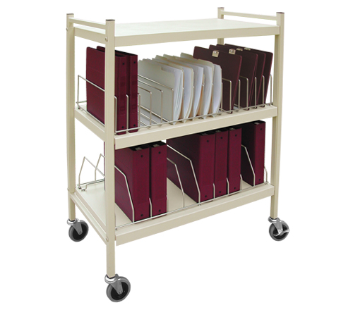 Mobile Chart Rack Workhorse Series 20 E Binder Storage Cart Click To Enlarge