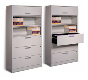Locking 4 Post Shelving Cabinets File Storage